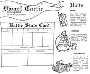 Board Game: Dwarf Tactic Minigame