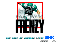 Video Game: Football Frenzy