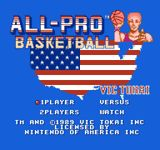 Video Game: All-Pro Basketball