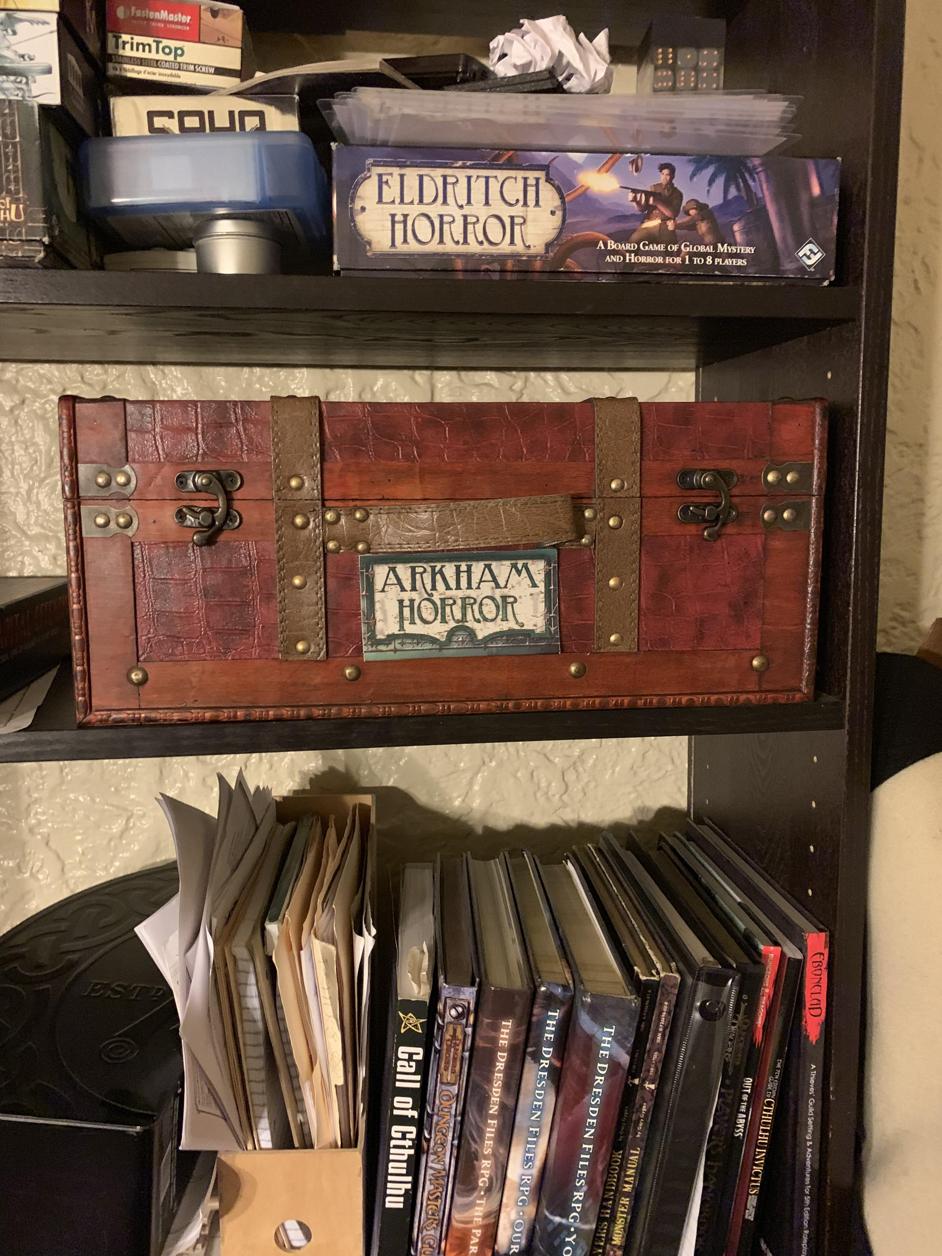 Storage solution inspired by Wolfpack48 | Arkham Horror