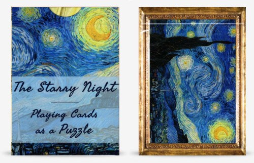 Van Gogh Starry Night Puzzle Playing Cards