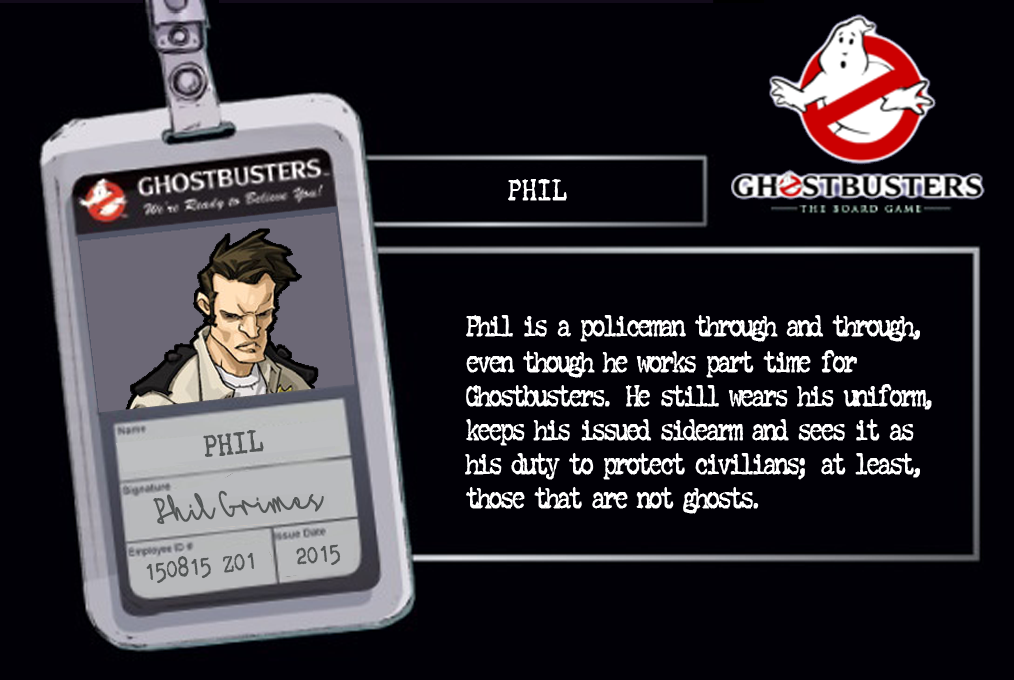 rel ghostbusters character card template ghostbusters the