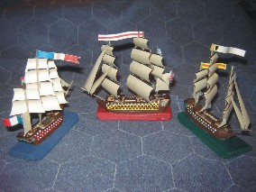 Miniature scales, manufactures and starting fleet sizes