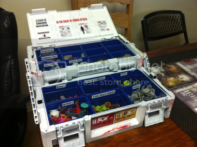 Storage solutions zombicide boardgamegeek for Board game storage solutions