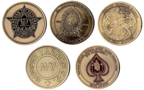 playing card coins