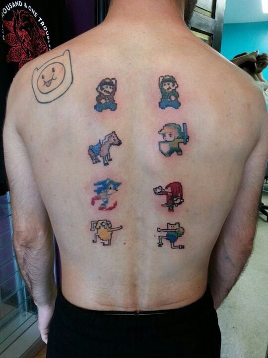Video game tattoos video game videogamegeek for The game tattoos
