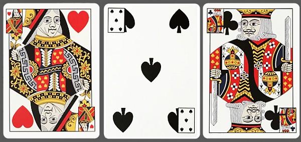 Triplicates playing cards