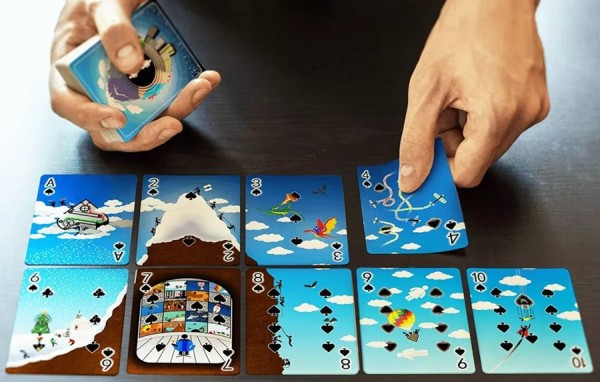 pip men puzzle playing cards