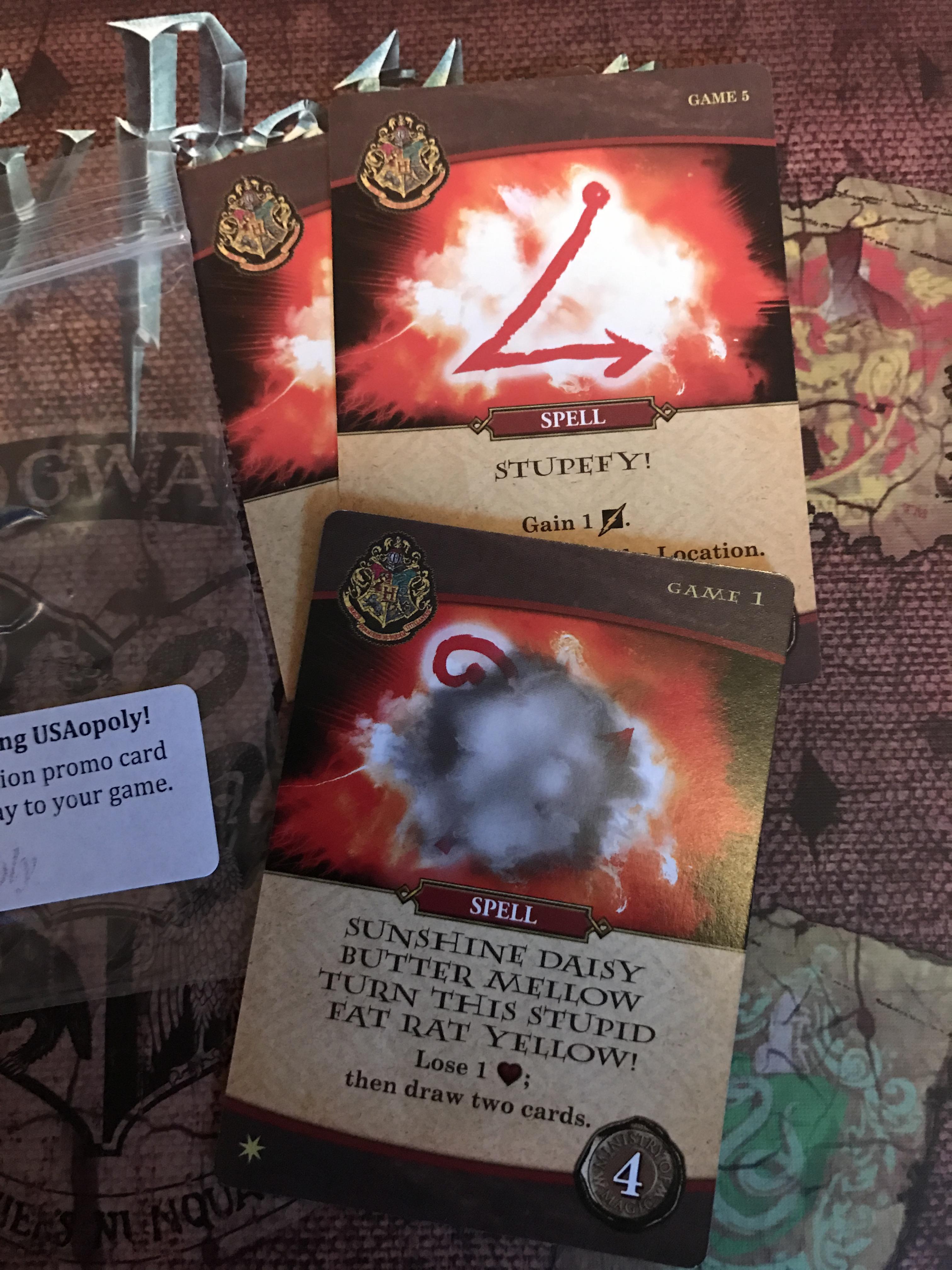 USAopoly Games Harry Potter Hogwarts Battle Game Promo Cards