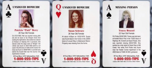 War against crime playing cards