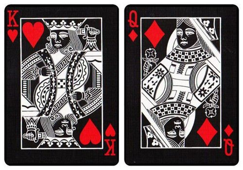 black tiger playing cards