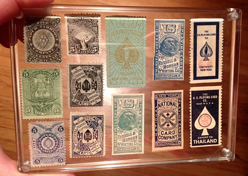 playing card stamps