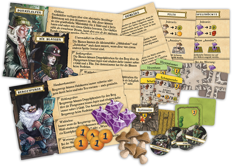 Latest Spoilers | Caverna: The Forgotten Folk | BoardGameGeek
