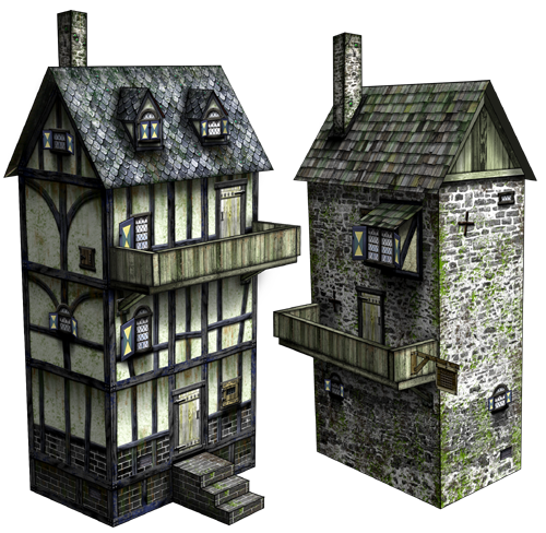 30mm Asylum Medieval Papercraft Model Now Available Boardgamegeek