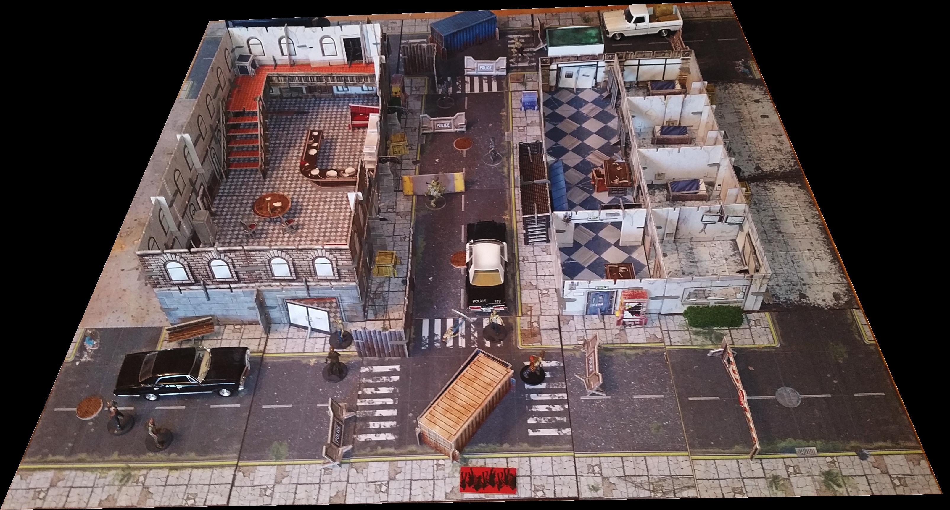 Modular City Tiles - Urban Apocalypse Wargaming | Zombicide