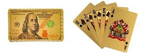 $100 Bill Gold/Silver Foil decks