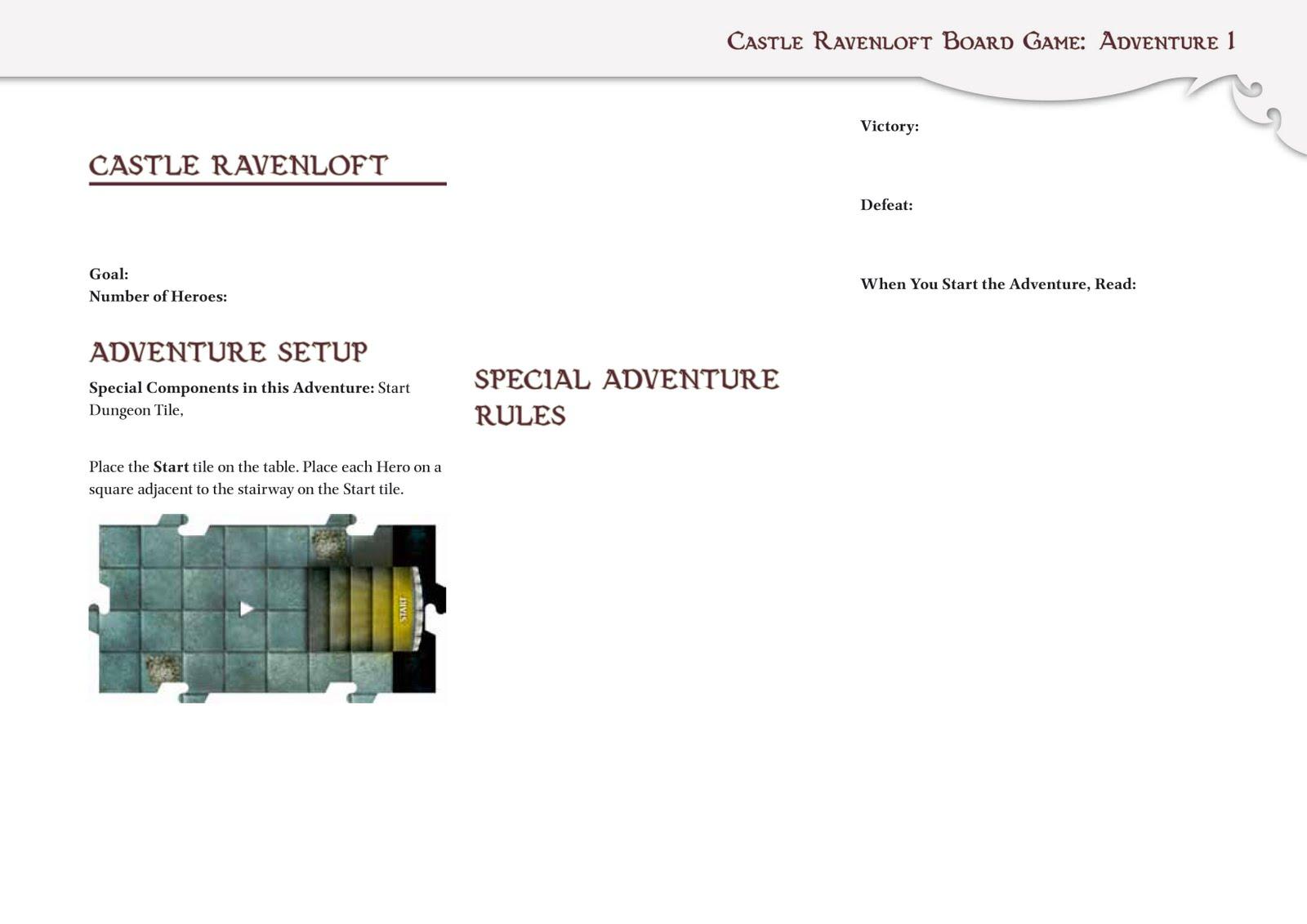 Scenario template   Dungeons & Dragons: Castle Ravenloft Board Game ...