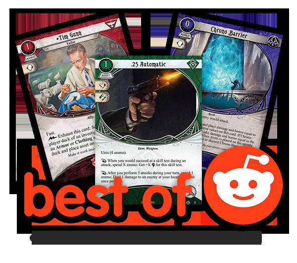 Reddit S Best Of Custom Cards 2017 Arkham Horror The Card Game