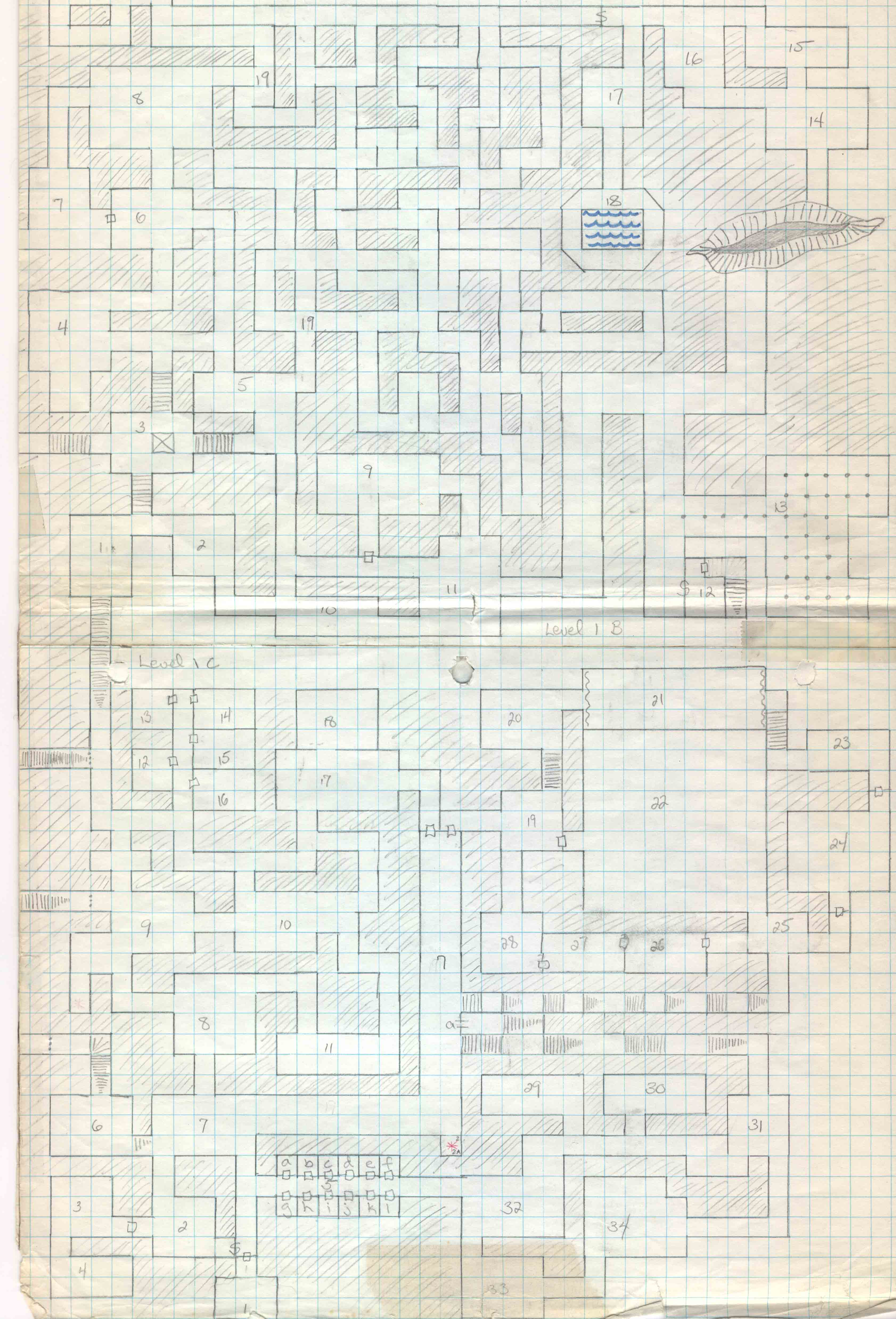 post your favorite graph paper dungeons