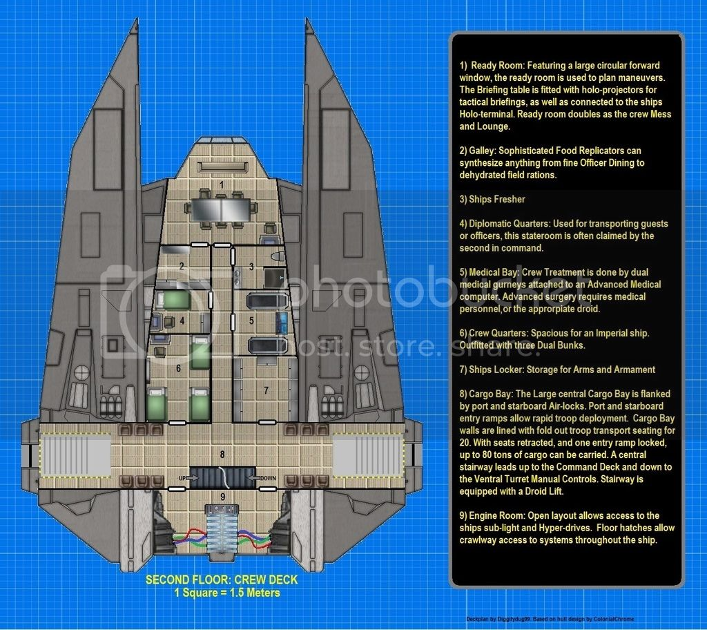 Vt 49 Imperial Decimator Deck Plans Star Wars X Wing