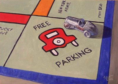free parking monopoly rule