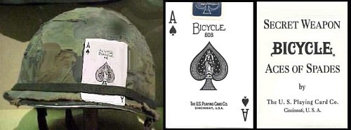 Aces of Spades produced for American soldiers
