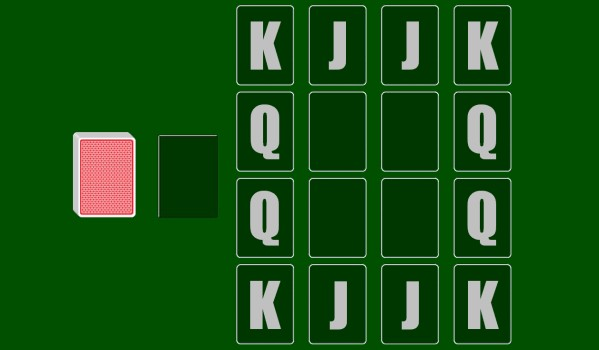 Kings in the Corners solitaire