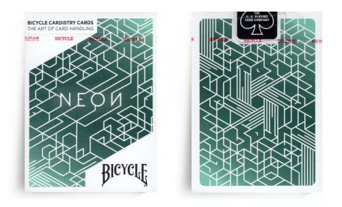 Neon Bicycle Cardistry