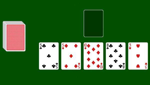 Five Piles (Baroness) solitaire