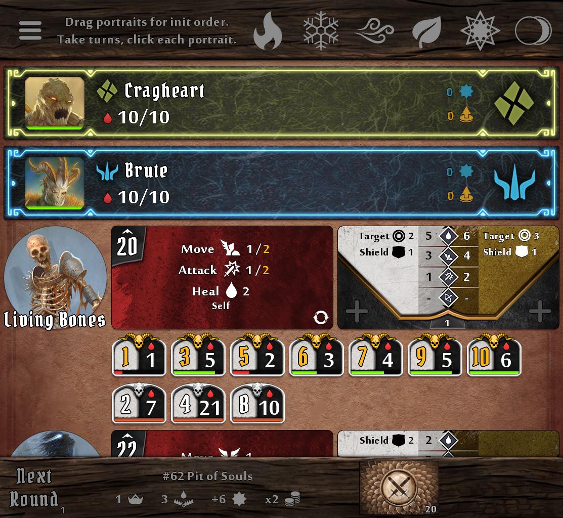 Gloomhaven Helper: tracks initiative, monsters, players