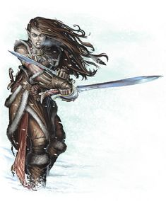 [Custom Characters] Half-Elf Fighter and Ranger Adina and