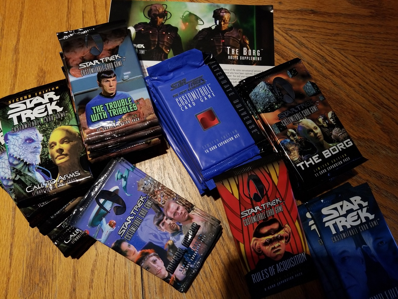 Star Trek CCG Sealed Booster Packs All Expansions!