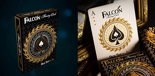 falcon throwing playing cards