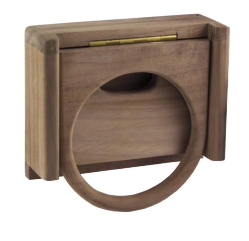 Elegant Wooden Folding Drink Holders