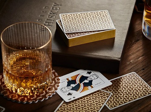 whiskey playing cards