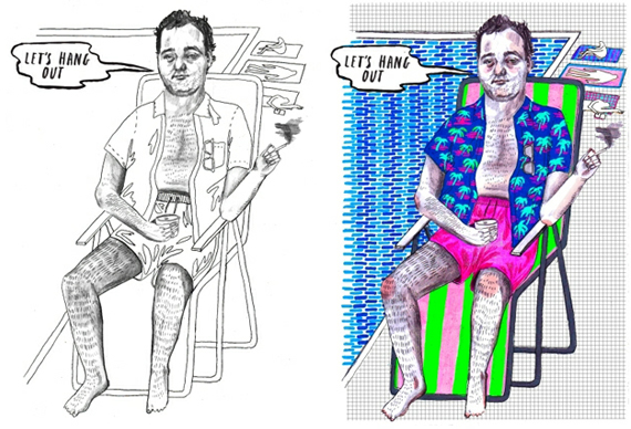 Thrill Murray: a Bill Murray coloring book   BoardGameGeek ...