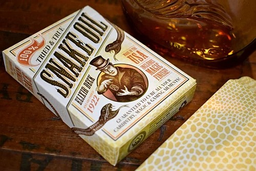 snake oil playing cards