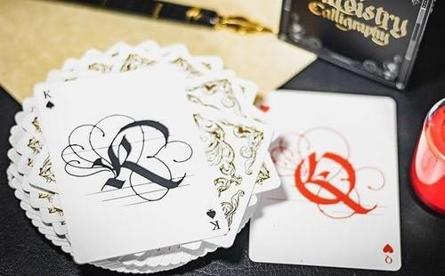 書法書法撲克牌