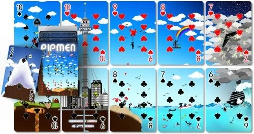 pipmen puzzle playing cards