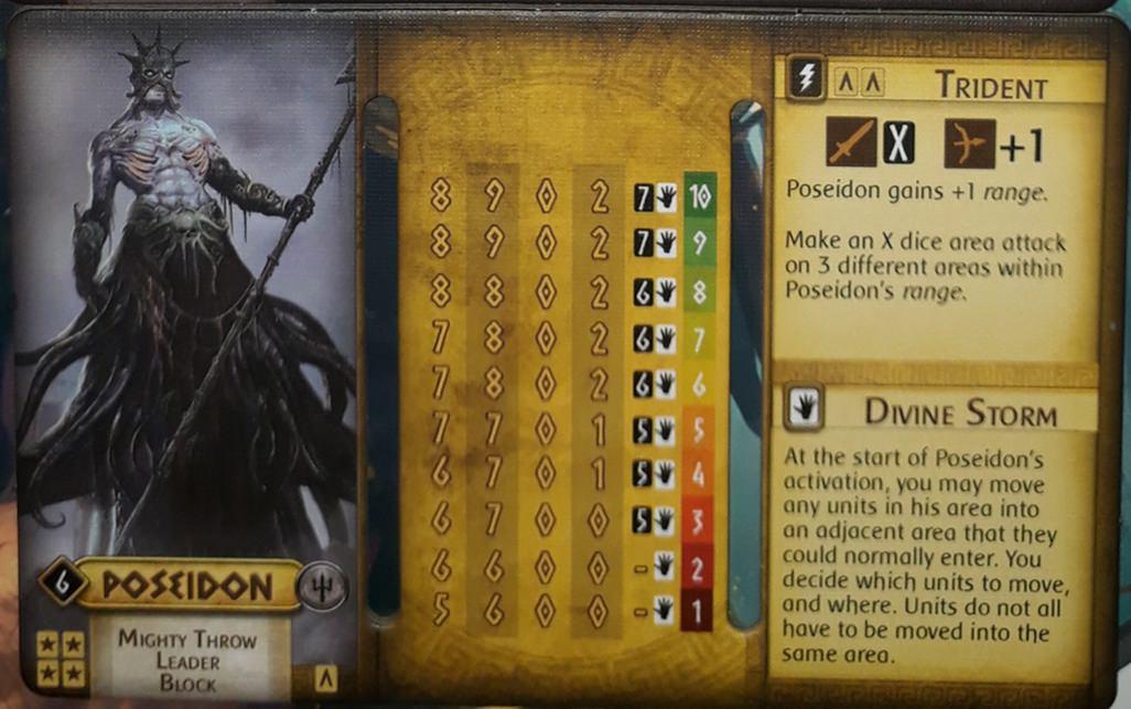 Poseidon's Trident power | Mythic Battles: Pantheon | BoardGameGeek