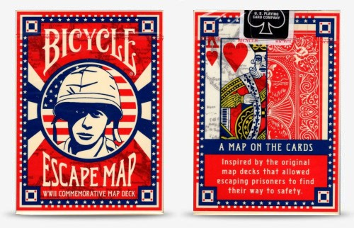 escape map playing cards