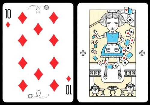 愛麗絲漫遊仙境 playing cards