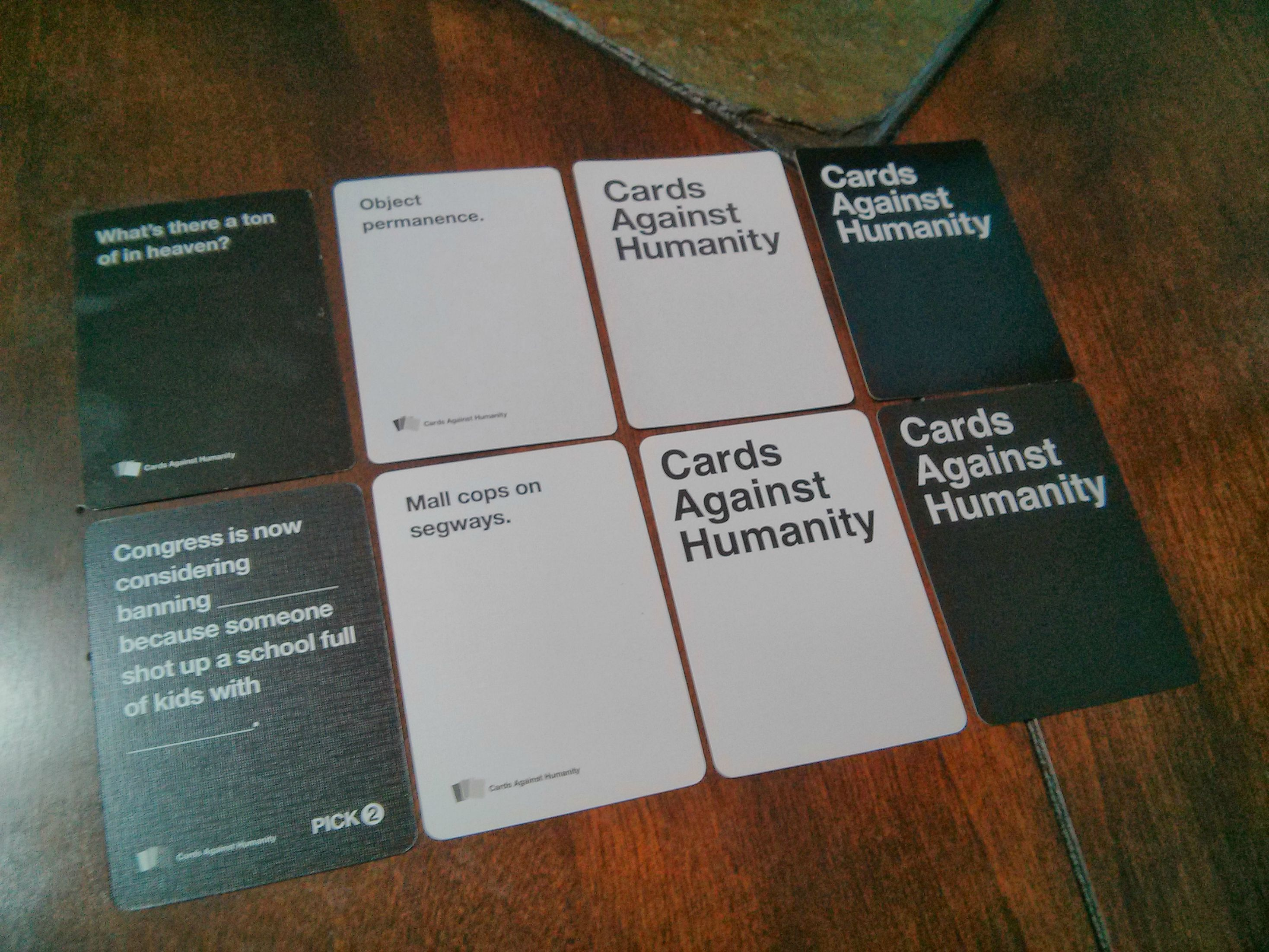 Thanks to all your suggestions, here is my custom deck Pertaining To Cards Against Humanity Template