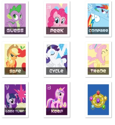 Here is the full set. After the fact, it looks like I should have flipped Rarity since the number is in a poor location.