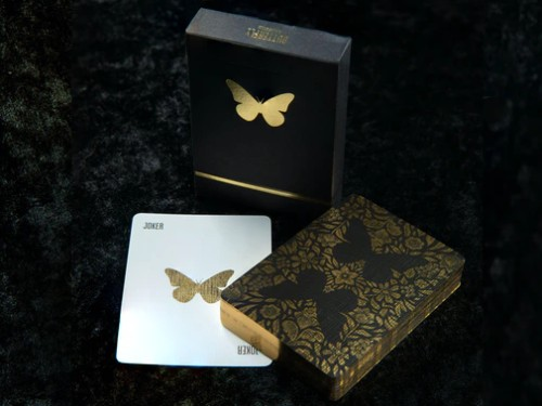 Butterfly Black playing cards