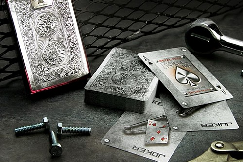 bicycle metal playing cards