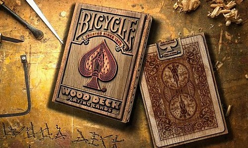 bicycle wood deck