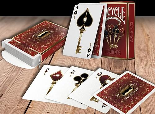 luxury keys playing cards