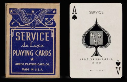 Service de luxe playing cards