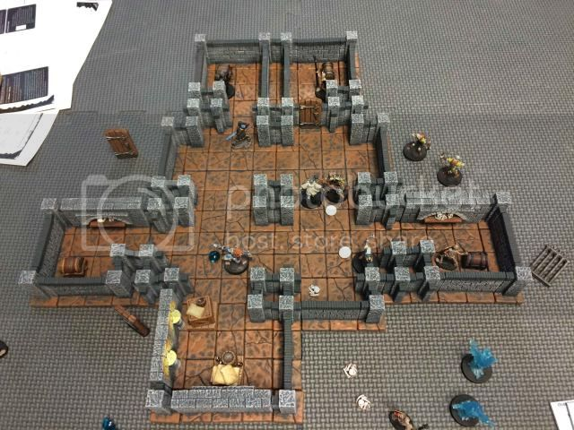 Beta Rules with 3D Dungeon & Proxy Minis | Dungeon Saga